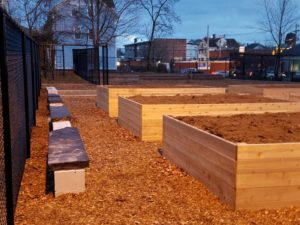 Garfield park, community garden, central falls, southside