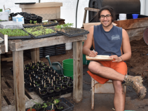 Matt Lovecchio, Providence College Intern, Assistant City Farm Steward