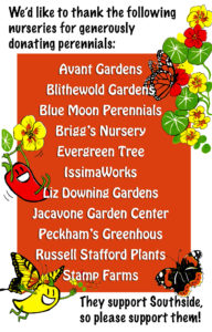 SCLT Plant Sale, perennial donor list