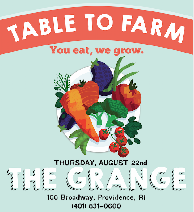 Table to Farm, Grange, SCLT, Providence