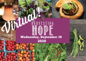 Harvesting Hope fundraiser will be held Sept. 30, 2020